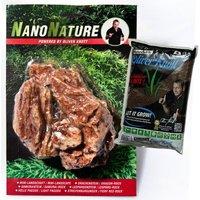 NanoNature Samuraistein Set - 5 Steine + 3 Liter NatureSoil braun, fein
