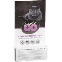 Spot'n Go Zecken- und Flohschutzmittel für Katzen - 2 Ampullen x 1,0 ml