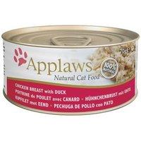 Applaws Mischfütterung: Trocken- & Nassfutterpaket - 2 kg Adult Huhn & Ente + 6 x 70 g Hühnchenbrust mit Ente