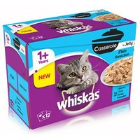 Whiskas 1+ Casserole Fish Selection in Jelly - Saver Pack: 48 x 85g