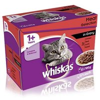 Whiskas 1+ Meat Selection in Gravy - 12 x 100g