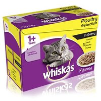 Whiskas 1+ Poultry Selection in Gravy - 48 x 100g