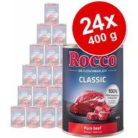 Pack Ahorro: Rocco Classic 24 x 400 g - Vacuno con pollo