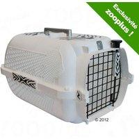 Catit White Tiger Voyageur Cage de transport pour chat - blanc - L48xl32xH28cm