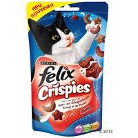 45g Felix Crispies bœuf poulet pour chat - Friandises pour chat