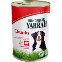 6x405g Chunks poulet bœuf orties tomates Yarrah Bio - Aliment pour Chien