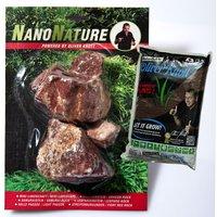NanoNature Fiery Red Rocks Set - 5 rocks + 3 litres NatureSoil brown, fine