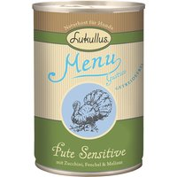 Lukullus Menu Gustico Saver Pack 12 x 400g - Turkey Sensitive with Courgette, Fennel & Melissa