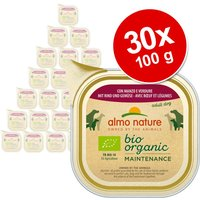 30x100g dinde Almo Nature Daily Menu Bio - Nourriture pour chien