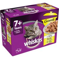 Whiskas 7+ Senior Casserole Poultry Selection in Jelly - Saver Pack: 48 x 85g