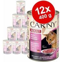 Animonda Carny Adult 12 x 400 g - Pack Ahorro - Vacuno, bacalao y raíz de perejil