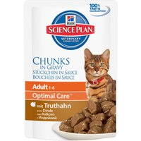 Hills Science Plan Adult Cat Optimal Care Pouches 6 x 85g - Chicken