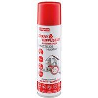 Spray & diffuseur automatique insecticide Habitat de Beaphar - 1 spray & diffuseur de 250 mL soit 80 m² de surface à traiter