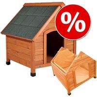 Lot : niche Trixie Natura à toit pointu et isolation - taille L : l 83 x P 101 x H 87 cm