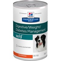 Hills Prescription Diet Canine w/d Digestive/Weight/Diabetes Management - Chicken - Saver Pack: 24 x 370g