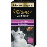 Miamor Cat Snack Malt-Cream & Malt-Cheese Mixed Pack - 48 x 15g