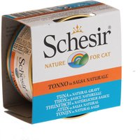 Schesir in Natural Gravy Saver Pack 12 x 70g - Tuna & Sea Bass