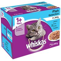 Whiskas 1+ Fish Selection in Jelly - 48 x 100g