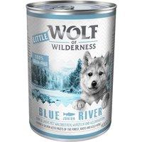 Little Wolf of Wilderness Saver Pack 24 x 400g - Blue River Junior - Chicken & Salmon