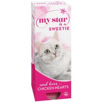 My Star is a Sweetie Wet Cat Food Chicken Hearts - Saver Pack: 30 x 90g