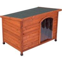 Woody Flat-Roofed Dog Kennel - Size S: 85 x 57 x 58 / 51 cm (L x W x H)
