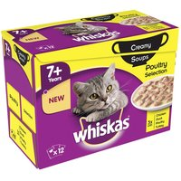 Whiskas 7+ Creamy Soup Poultry Selection - 12 x 85g