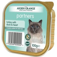 Arden Grange Adult Cat Turkey with Duck & Heart - 16 x 100g