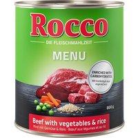 Rocco Menu 6 x 800g - Beef, Lamb, Vegetables & Rice
