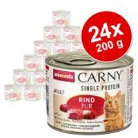 Animonda Carny Single Protein Adult 24 x 200 g para gatos - Pack Ahorro - Pollo puro