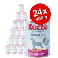 Pack Ahorro: Rocco Sensitive 24 x 400 g - Pavo  y patata