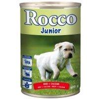 Rocco Junior 6 x 400 g - Pavo y corazones de buey + calcio
