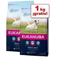 Eukanuba pienso para perros de 2 x 3 kg en oferta: 5 + 1 kg ¡gratis! - Adult razas pequeñas con pollo (2 x 3 kg)