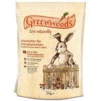 Comida para conejos enanos Greenwoods - 2 x 3 kg - Pack Ahorro