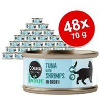 Cosma Nature 48 x 70 g - Pack Ahorro - Pechuga de pollo y atún