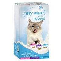 My Star Milky Cups snacks con leche para gatos - Pack mixto - 75 x 15 g - Pack Ahorro