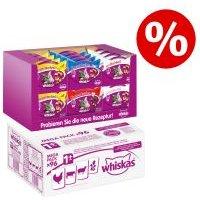 Whiskas 96 x 100 g + snacks Whiskas en pack mixto ¡precio especial! - Selección de aves en salsa Adult 1+