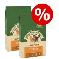 James Wellbeloved pienso para gatos - Pack Ahorro - Adult Hairball con pavo (2 x 4 kg)