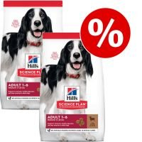 Hill's Science Plan Canine - Pack Ahorro - Mature Adult 7+ Youthful Vitality Medium pollo (2 x 14 kg)