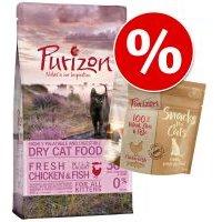 Oferta de prueba: 400 g Purizon pienso para gatos + 40 g Purizon snack - Adult con pollo y pescado + snack