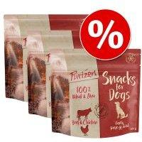 Purizon snacks para perros 3 x 100 g - Pack Ahorro - Vacuno y pollo