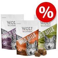 Wolf of Wilderness Wild Bites  - Pack Ahorro 3 x 180 g - Junior Leafy Willows, con ternera