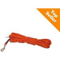 Longe Heim, orange pour chien - L 500 x l 0,6 cm
