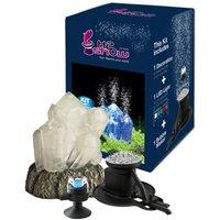 H2show Kristall Dekoration mit LED und Luftsprudler - Set mit Kristall, LED Beleuchtung und Bubble Maker