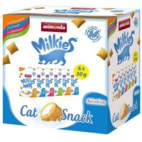 Mixed Pack Animonda Milkies Knuspertaschen - 6 x 30 g (4 Sorten)