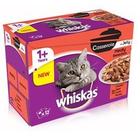 Whiskas 1+ Casserole Meaty Selection in Jelly - 12 x 85g