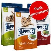 Pack gourmand Happy Cat Adult 3 saveurs - lot mixte (3 variétés)