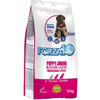 Forza 10 Puppy Junior with Fish - Economy Pack: 2 x 15kg