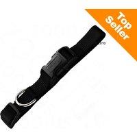 Collier Hunter Ecco Sport Vario Basic, noir pour chien - taille M : tour de cou 35-53 cm x l 2 cm