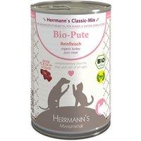 Herrmann's Pure Viande 6 x 400 g pour chien et chat - pur canard bio