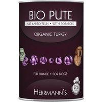 Lot Herrmanns Menu sans céréales 24 x 400 g - canard bio, patates douces, potiron, huile d'onagre